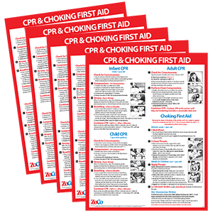 CPR Choking Posters 5 Pack