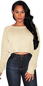 sweater crop rop