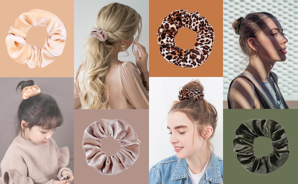 Velvet Pocket Hair Scrunchies