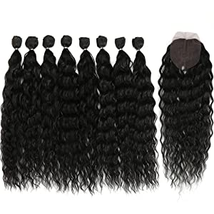 debyt synthetic hair bundles with closure