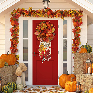 2 Pcs Artificial Maple Leaf Garland Hanging Fall Leave Vines Hanging Plants