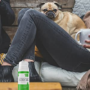 colloidal gel silver, with aloe vera, for pets