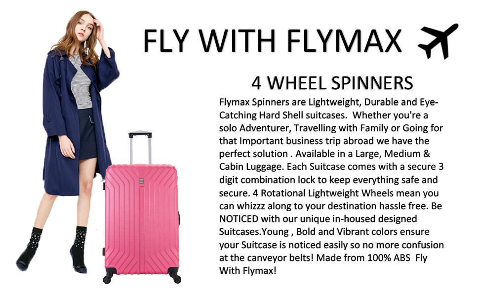 Large Suitcase 4 wheel Lightweight