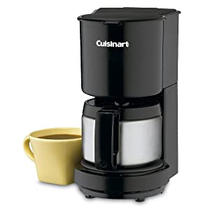 Amazon.com: Cuisinart DCC-450BK 4-Cup Coffeemaker with Stainless-Steel Carafe, Black: Drip Coffeemakers: Kitchen & Dining