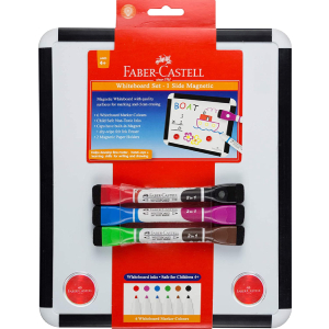 Faber Castell Bicolour Whiteboard Set with board and markers, 67 570703