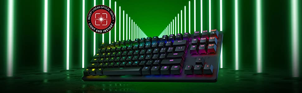 Razer Huntsman Tournament Edition Teclado con teclas opto-mecánicas , accionamiento óptico, barra estabilizadora de teclas, durabilidad inigualable, ...