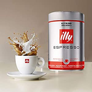 Illy Espresso Medium Roasted Ground Coffee, 250g