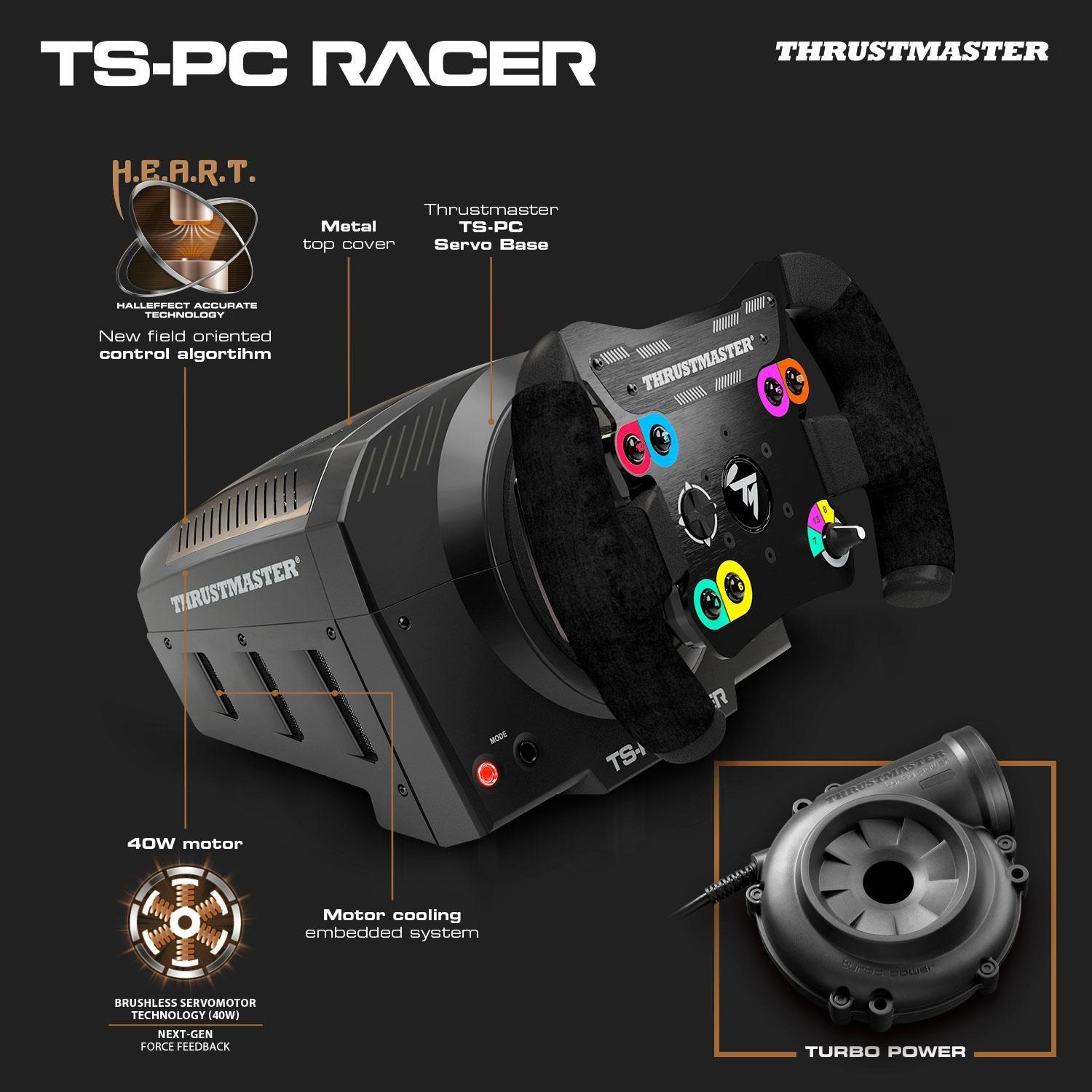 thrustmaster ts racer pc videogiochi. Black Bedroom Furniture Sets. Home Design Ideas