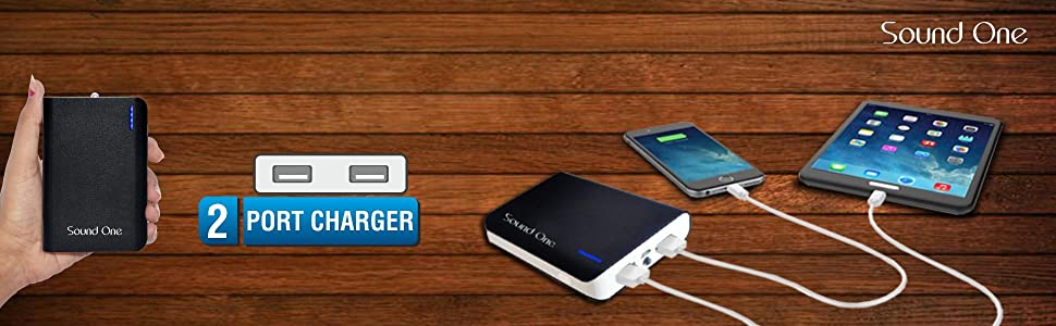 Sound One Power Bank Charger With 2 USB Ports