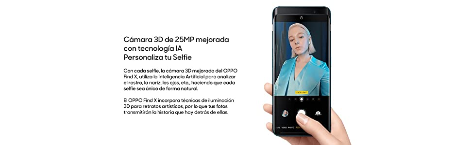 OPPO Find X - Smartphone Libre Android 8.1 (6,4