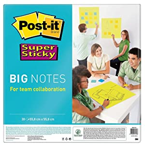 Post-it Super Sticky BN11-EU - Notas formato grande, 4XL, 30 hojas, 27.9 cm x 27.9 cm, color amarillo