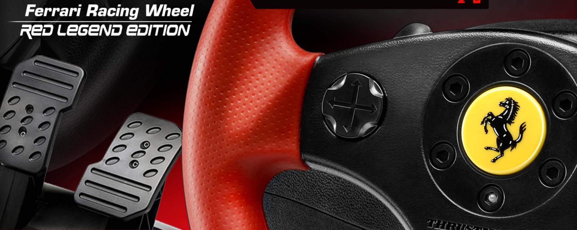 amazon com thrustmaster ferrari racing wheel red legend edition (pcfrom the manufacturer the exclusive \u0027red legend\u0027 edition of the best selling racing wheel