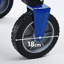 キャンパーズコレクション エブリデイキャリー タイヤ径18cmで移動も運搬も楽に