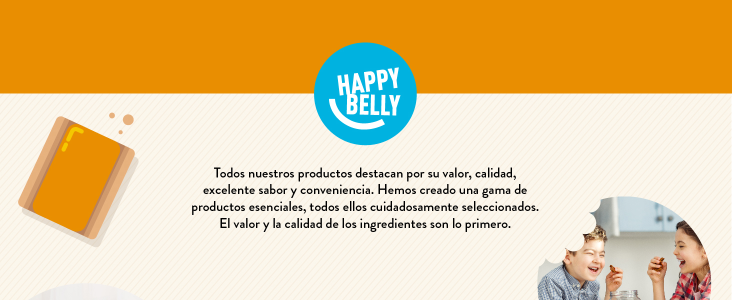Marca Amazon - Happy Belly - Galletas suizas tartaletas de masa quebrada azucarada con confitura de albaricoque, Pack de 8 (8 x 150g)