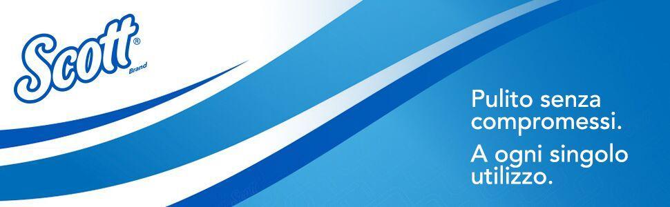 Colore Bianco 36 Rotoli Piccoli x 350 fogli a 3 Veli Scott 8518 Plus Carta Igienica in Rotolo