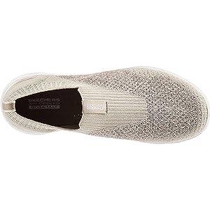SKECHERS GO WALK 5 Womens Shoes, Grey (Natural Charcoal), 5 UK (38 EU)
