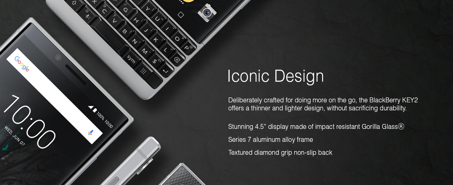BlackBerry KEY2 Android Smartphone Iconic Design