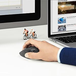 Logicool ロジクール M720r トライアスロン マルチデバイス ワイヤレス マウス ブラック Bluetooth Unifying 対応