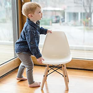 Amazon.com: urbanmod Kids Eames Estilo Moderno Color Blanco ...
