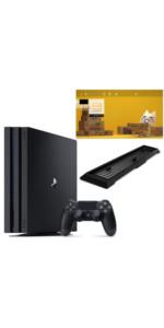 PlayStation 4 Pro ジェット・ブラック 1TB 【Amazon.co.jp限定】アンサー 縦置きスタンド付&オリジナルカスタムテーマ 配信