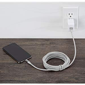 AmazonBasics Double Braided Nylon Lightning to USB A Cable, Advanced Collection