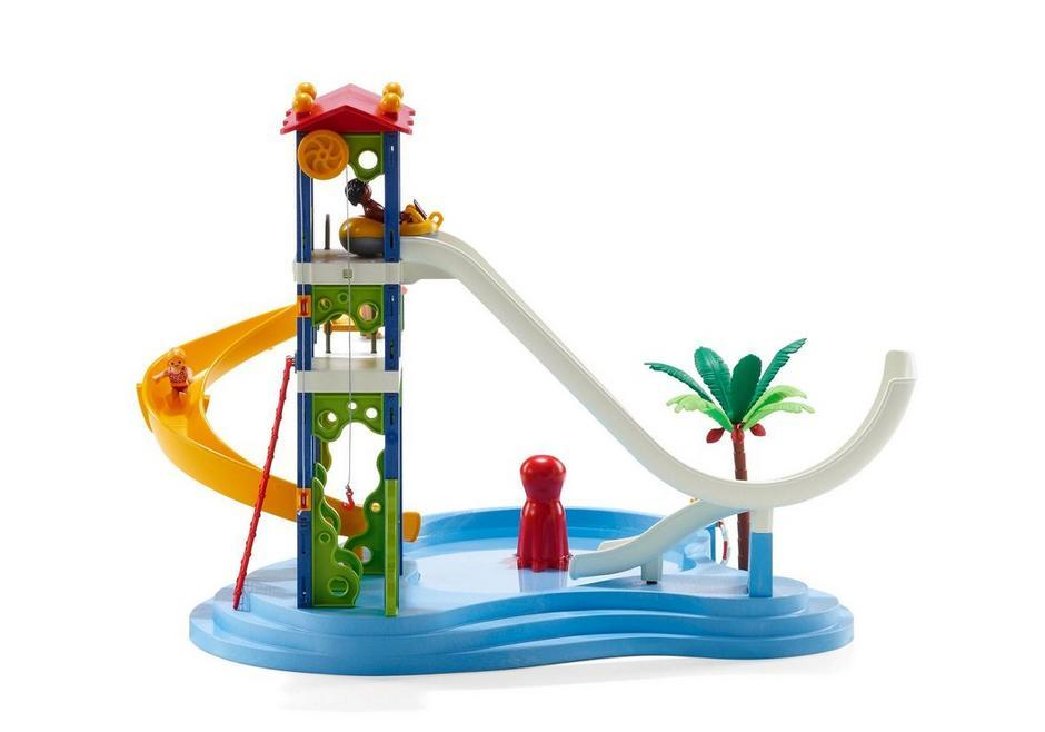 Playmobil parque acu tico con toboganes 66690 for Playmobil piscina con tobogan