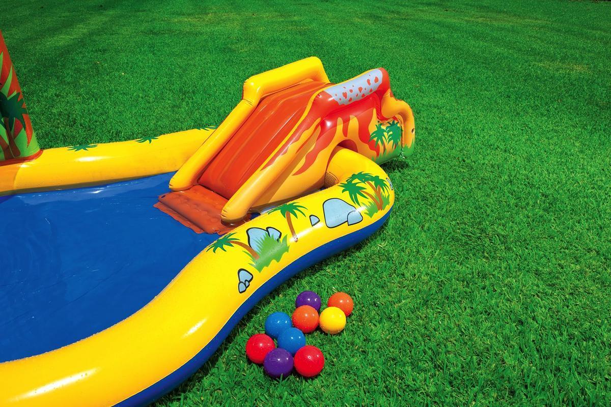 Intex 57444np piscina gonfiabile per bambini con scivolo - Piscina con palline per adulti ...