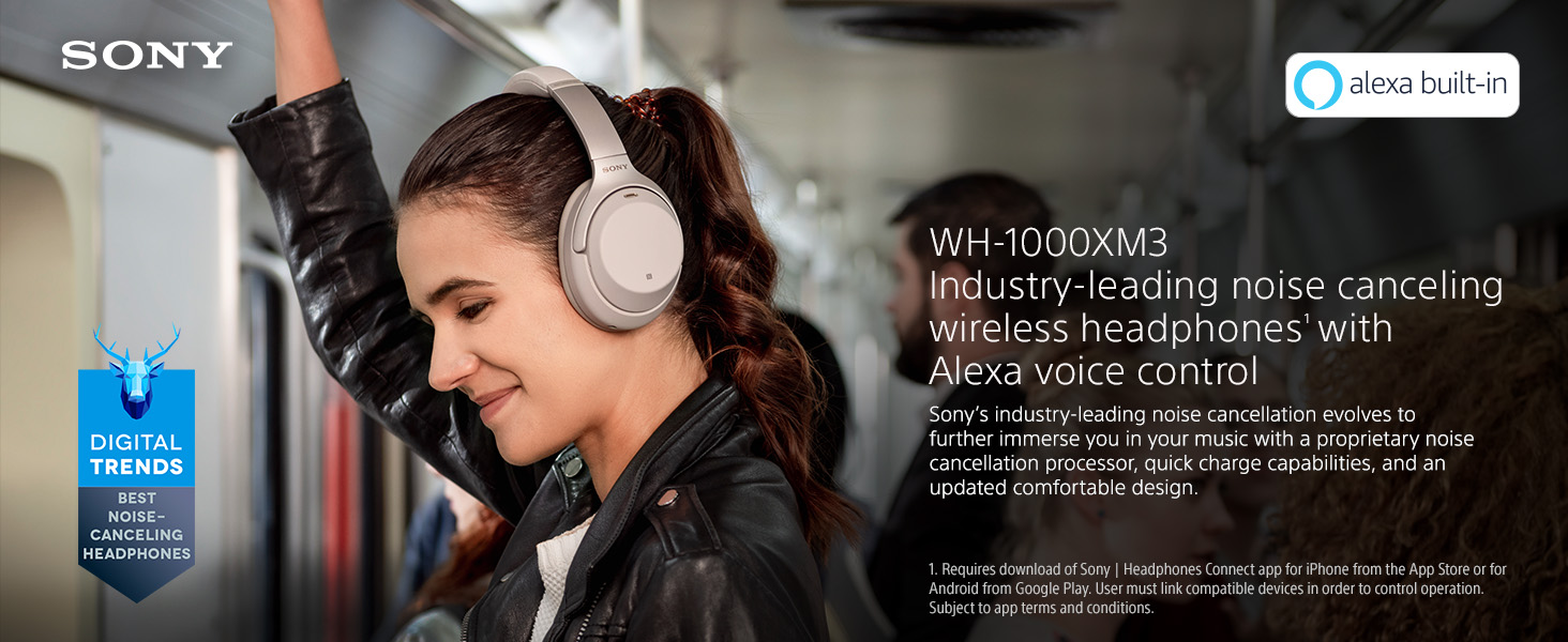 Sony WH-1000XM3 Wireless Bluetooth Noise Cancelling Headphones