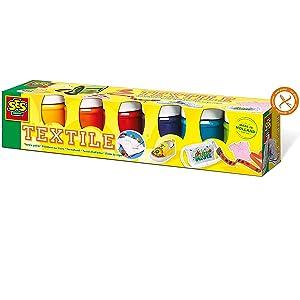 Ses- Juego de Seis Pinturas para Tela para niños (6 Colores), 6 x ± 45 ml (00331): Amazon.es: Juguetes y juegos