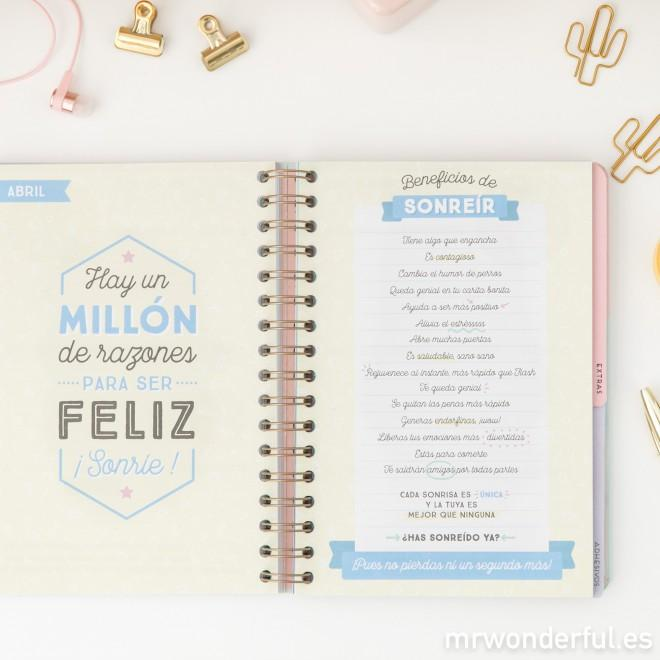 Mr. Wonderful WOA08859ES - Agenda 2018, semana vista, diseño ...