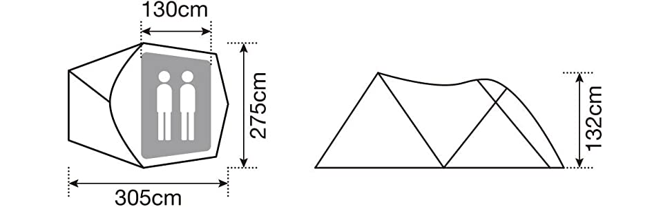 スノーピーク snow peak テント カマエルドーム2 SSD-360 2人用