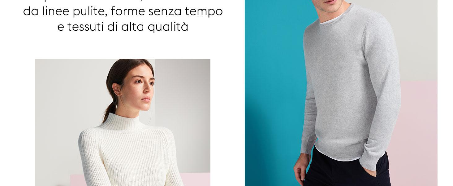 MERAKI T-shirt Girocollo a Manica Lunga Donna