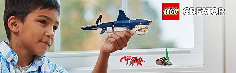 31088 LEGO Creator Deep Sea Creatures Toy Shark Playset