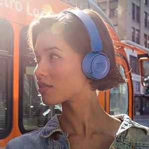 JBL On-Ear Bluetooth Headphones, Blue - T450BT
