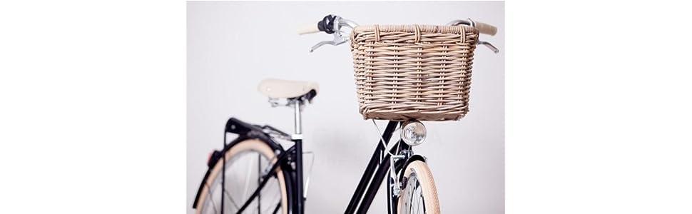 Victoria - Cesta De Mimbre para Bicicleta Bulb, Marrón Claro, 24 X ...