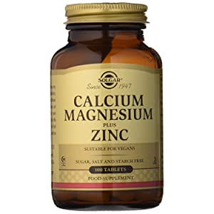 Solgar Calcium Magnesium Plus Zinc, 100 Tablets