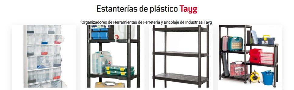 600 x 300 x 1370 mm Tayg Kit estanter/ía pl/ástico 634