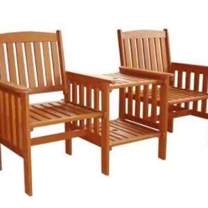 Kingfisher Fslove Hardwood Love Seat Wood Amazon Co Uk