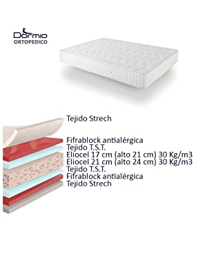Dormio Ortopedico Materasso in Eliocell 90 x 190 x 21 cm