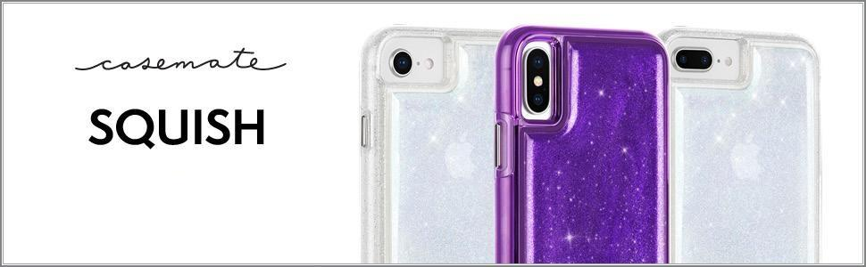 online store e2846 dca7c Case-Mate - iPhone X Case - Squish - Fidget Case - Gel Moves When Pressed -  Soft Touch - Organic Glitter Gel - Iridescent