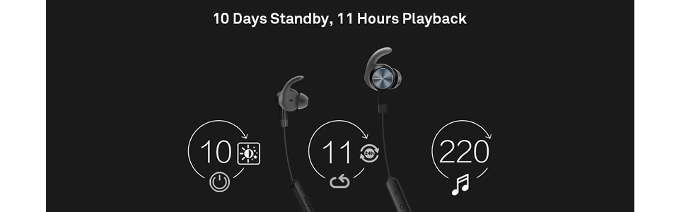 Huawei Sport Bluetooth Headset, Black - AM61