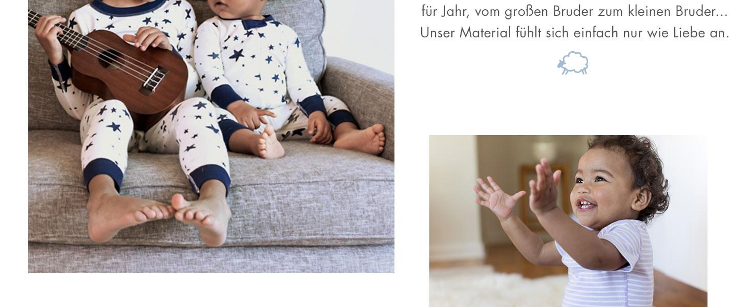 Hanna Andersson Moon and Back Jogging-Hose Babys Kleinkinder Bio-Baumwolle 3er-Pack