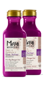 Maui Moisture Shea Butter shampoo and conditioner