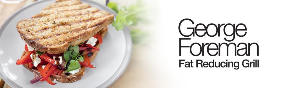 George Foreman Compact - Grill Eléctrico (Plancha Grill de 760 W, 2 porciones, Sin Grasa, Negro) - ref. 18840-56
