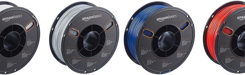 AmazonBasics PETG 3D Printer Filament, 1 75mm, Purple, 1 kg Spool