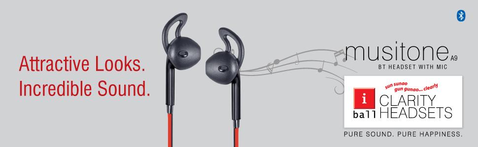 466647a500b iBall Mini Earwear A9 - Handsfree Bluetooth Earphones with inbuilt ...
