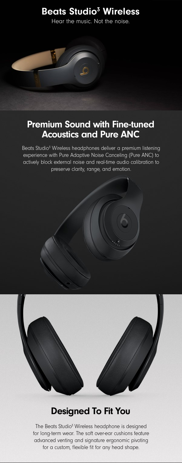 15e18334b30 Amazon.com: Beats Studio3 Wireless Noise Canceling Over-Ear ...