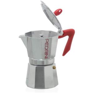 Pedrini P9084 Espresso Coffee Maker, 6 Cups, 300 ml - Silver