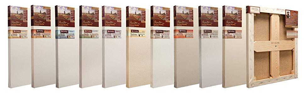 4X Cotton 14.6oz 70 x 90 Masterpiece Artist Canvas ME-7090 Monet Pro 1-1//2 Deep Sierra Heavy Weight