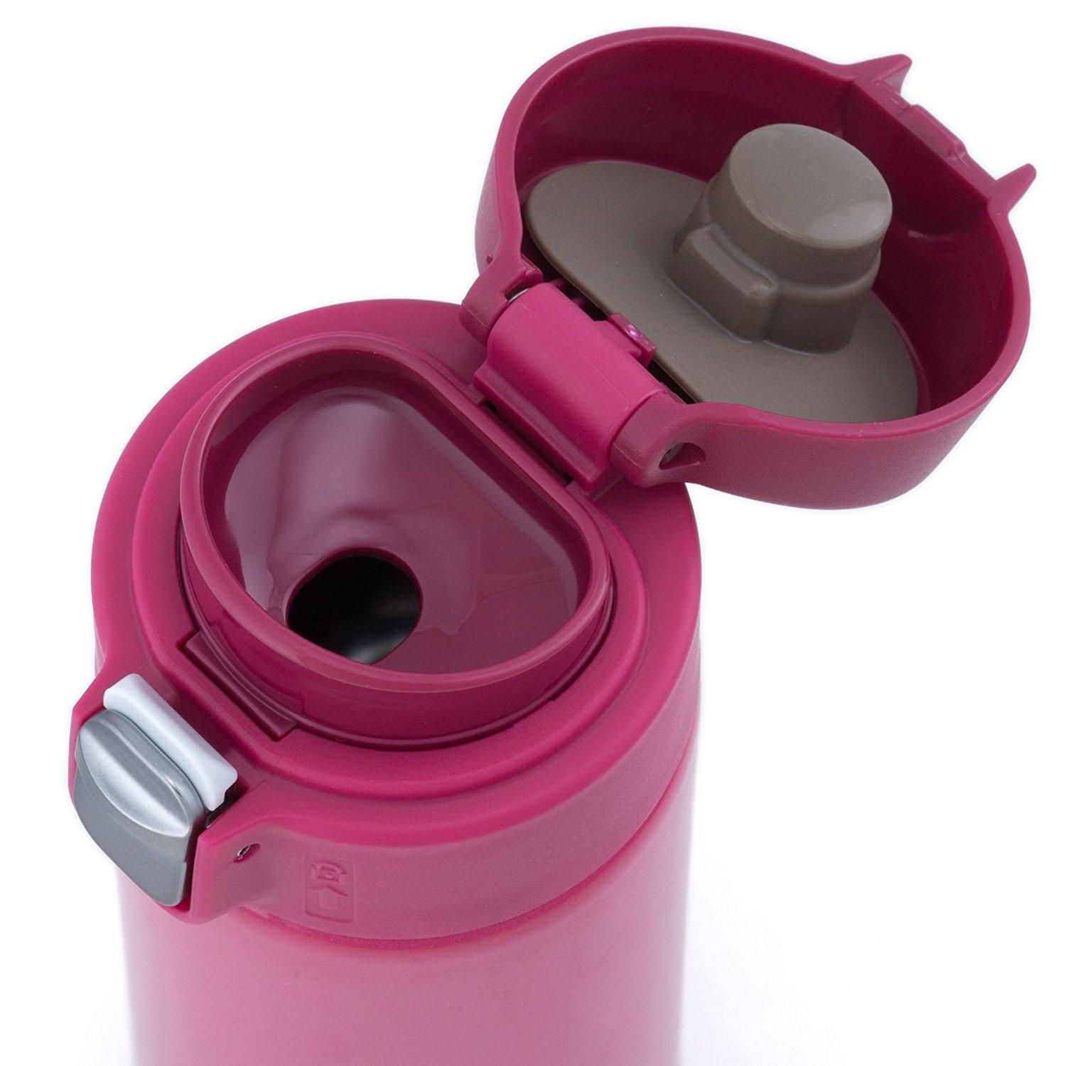 Tiger Mmj A048 Pa Vacuum Insulated Stainless Steel Travel Mug With Flip Open Lid Double Wall
